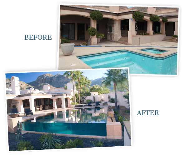 Pool Revitalized Before and After