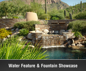 Tucson Water Features, Waterfalls and Fountains