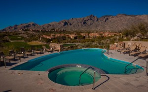 Pool built by Cimarron Circle at Hacienda del Sol - Tucson - General view of pool and spa-2
