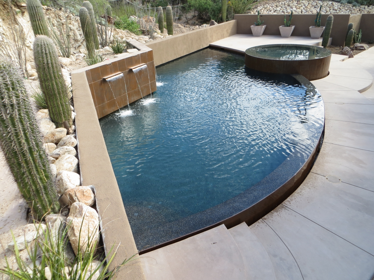 Contemporary Pool contemporary pools' new shapes & shallow depth | cimarron circle