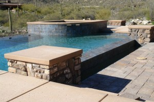 Dipping pool and raised spa