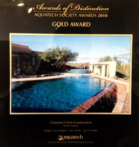 Gold Award 2010 - Vanishing edge pool