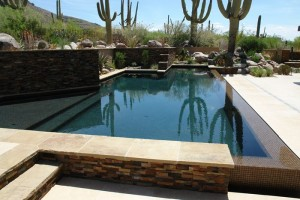Geometric pool with vanishing edge